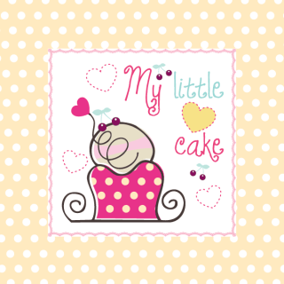 My Little Cake Vector Birthday Card