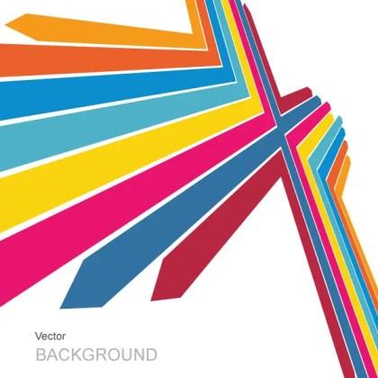 Color Arrows Background Vector Illustration Free