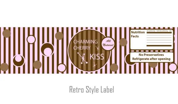 Free Retro Style Label Vector