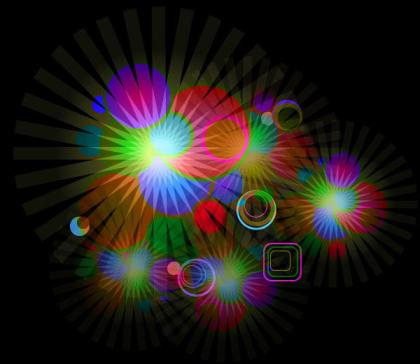 Abstract Glowing Light Effect Illustrator Background Vector