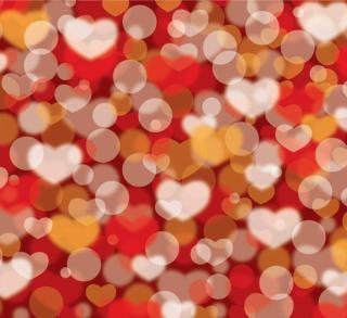 Abstract Valentines Defocus Background Vector Illustration Free