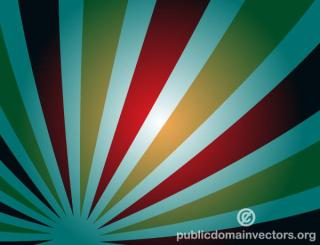 Vector Abstract Background with Retro Sunbeams