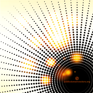 Vector Abstract Background with Halftone Design Element