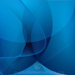 Abstract Blue background with Flowing Lines Vector Image