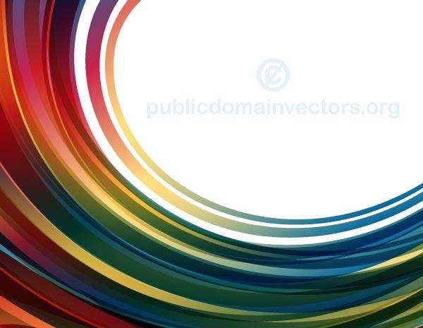 Free Vector Abstract Background with Red and Blue Curved Stripes