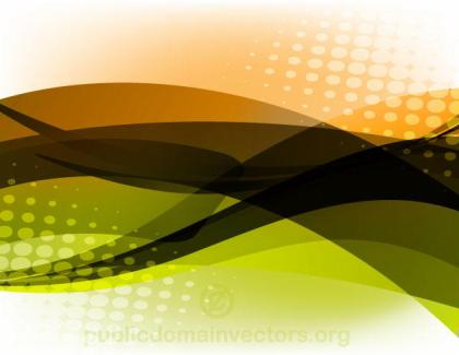 Abstract Glowing Vector Background with Halftone Pattern