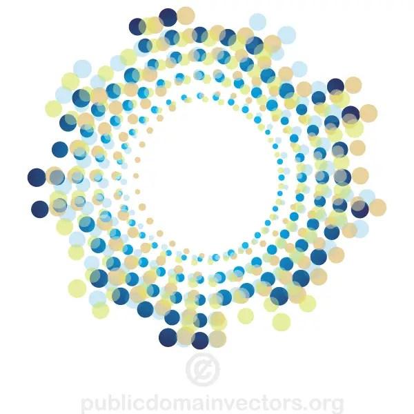 Abstract Circle Halftone Shape Vector