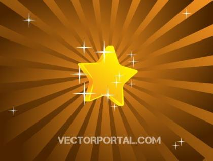Vector Retro Star Background Design