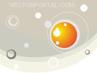 Vector Abstract Background Design with Pastel Colors and Bubbles