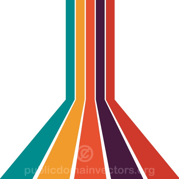 Abstract Colorful Stripes Perspective Vector Background