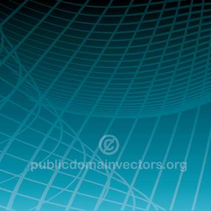Abstract Vector Blue Background with Flowing Lines