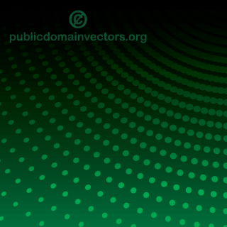 Vector Abstract Green Background Illustration with Halftone Dots