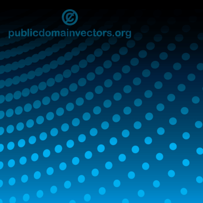Vector Abstract Blue Background Illustration with Halftone Dots Pattern
