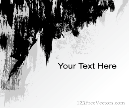 Abstract Grunge Strokes Background Vector Banner Design