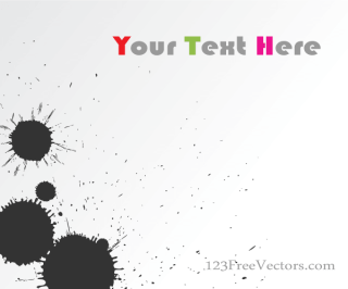 Vector Ink Blot Background Banner Design