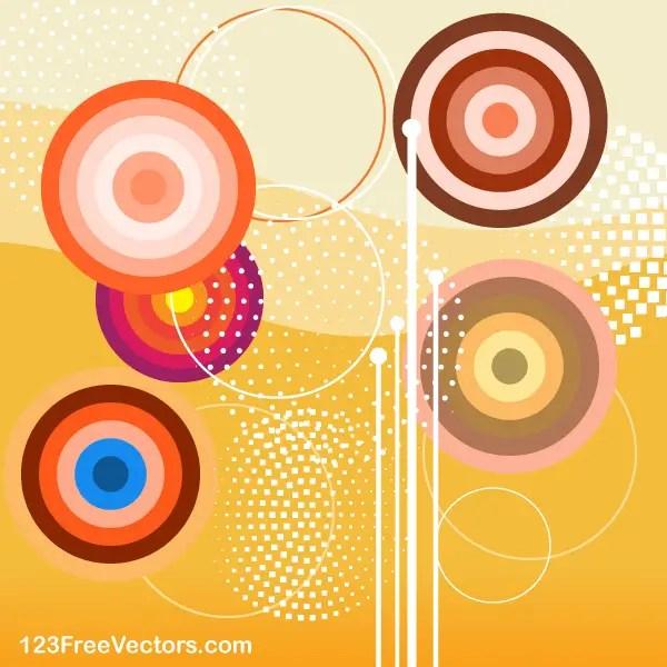 Retro Colorful Background Graphics