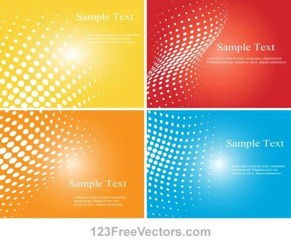 Halftone Dot Colorful Background Vector Illustrator