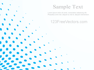 Blue Halftone Dot Pattern Background Vector Illustrator