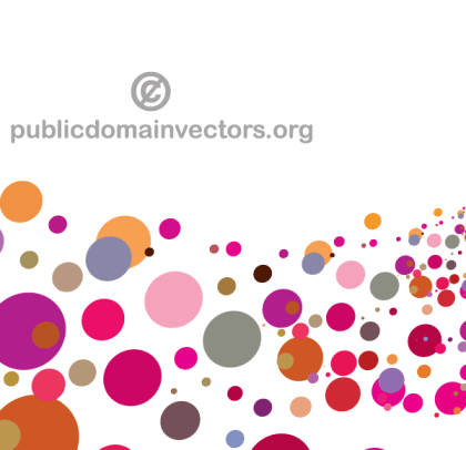 Abstract Colorful Circles Background Image