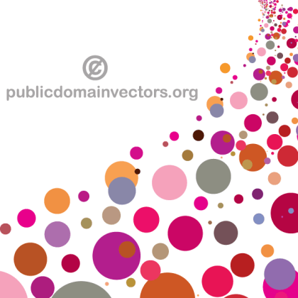 Colorful Circles Background Graphic Design