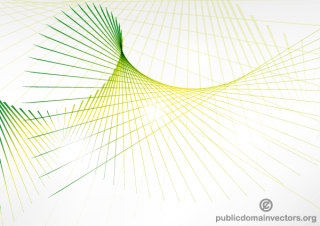 Abstract Green Wave Line Background Graphics