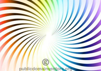 Vector Colorful Radial Stripes Background