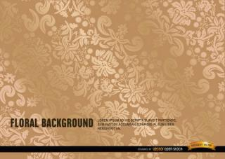 Ornate Gold Floral Background Vector