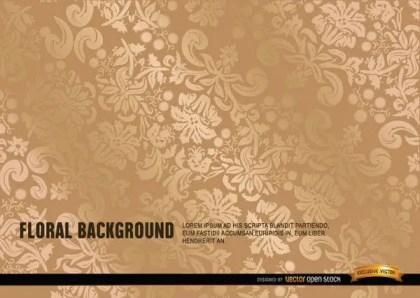 Ornate Gold Floral Background Vector