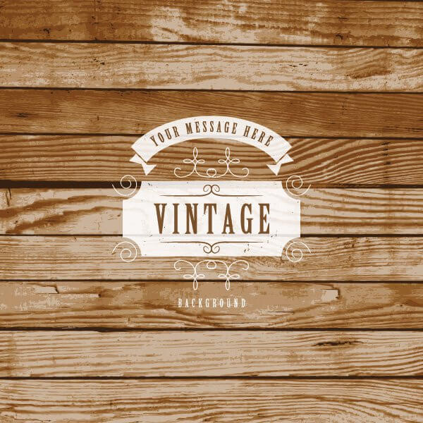 Vintage Label On Wooden Texture Background Vector