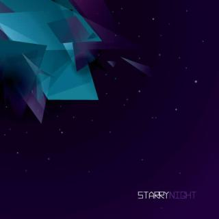 Free Starry Night Background Design
