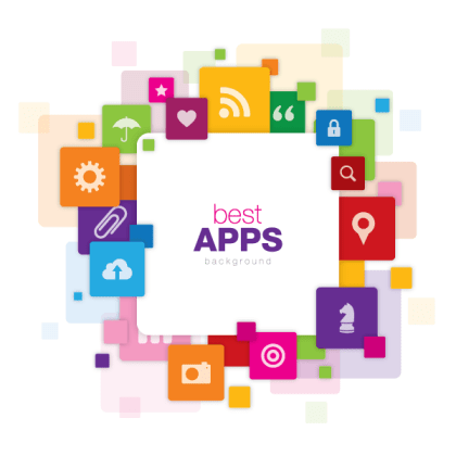Best Apps Vector Background Graphic