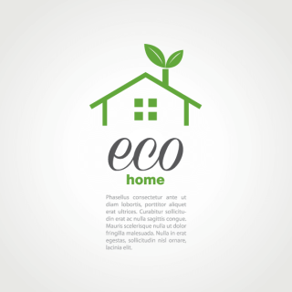 Eco House Logo Design Background