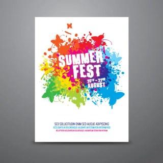 Summer Festival Poster Design Template Vector