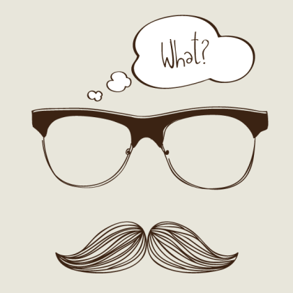 Hipster Background with Sunglasses and Mustache Vector