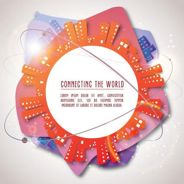 Connecting The World Vector Background Design
