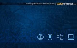 Communication Technology Background Vector Art