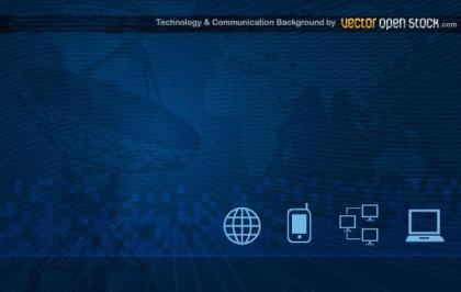 Communication Technology Background Vector Art