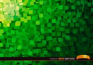 Abstract Green Squares Background Illustrator