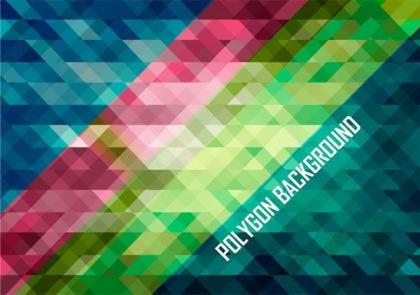 Abstract Colorful Polygonal Stripes Background Illustrator