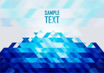 Abstract Blue Polygon Background Vector Image