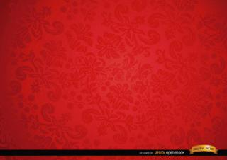 Red Floral Ornament Background Design