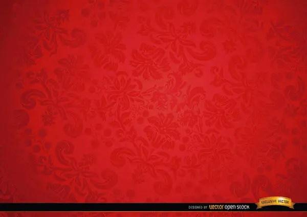 Red Floral Ornament Background Design