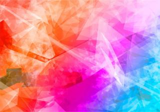 Abstract Colorful Polygon Crystal Background Vector