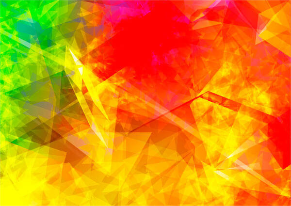 Abstract Polygonal Flames Background Design