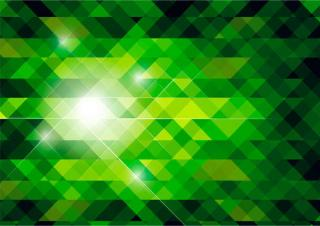Vector Abstract Green Polygonal Background Design