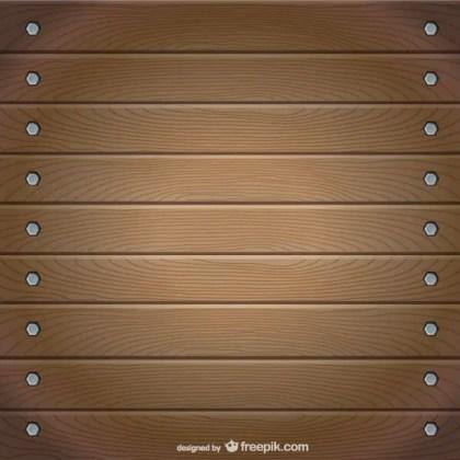 Realistic Wooden List Board Vector