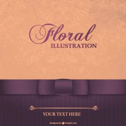 Vintage Floral Card Design Illustration
