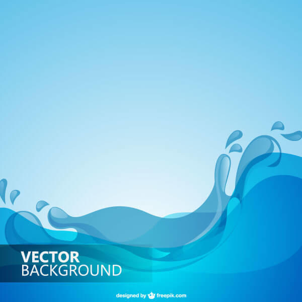 Blue Water Wave Background Vector