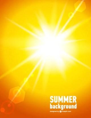 Vector Abstract Orange Sunlight Background