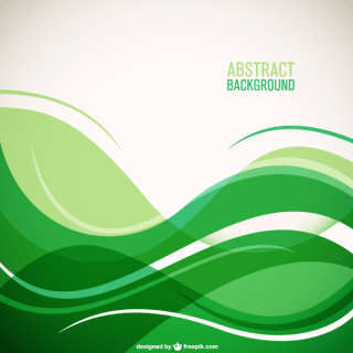 Green Wave Background with Place for Your Text